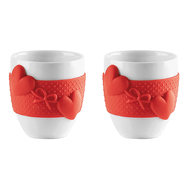 Чашки для кофе Guzzini Love, красные, 80мл - 2шт - арт.11490055, фото 1