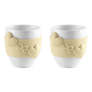 Чашки для кофе Guzzini Love, бежевые, 80мл - 2шт - арт.11490079, фото 1
