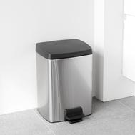 Ведро для мусора с педалью Brabantia, стальной матовый с защитой от отпечатков пальцев, 10 л - арт.461804, фото 1