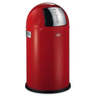 Ведро для мусора Wesco Pushboy, с заслонкой, красное, 22 л - арт.175531-02, фото 1