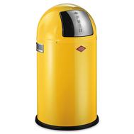Ведро для мусора Wesco Pushboy, с заслонкой, желтое, 22 л - арт.175531-19, фото 1