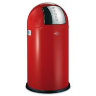 Ведро для мусора Wesco Pushboy, с заслонкой, красное, 50 л - арт.175831-02, фото 1