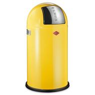 Ведро для мусора Wesco Pushboy, с заслонкой, желтое, 50 л - арт.175831-19, фото 1