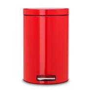 Ведро для мусора с педалью Brabantia, красное, 12 л - арт.105982, фото 1