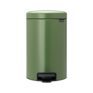 Ведро для мусора с педалью Brabantia Newicon, зеленое, 12 л - арт.113529, фото 1
