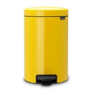 Ведро для мусора с педалью Brabantia Newicon, желтое, 12 л - арт.113567, фото 1
