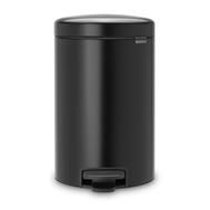 Ведро для мусора с педалью Brabantia Newicon, черное, 12 л - арт.113741, фото 1