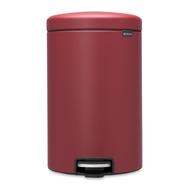 Ведро для мусора с педалью Brabantia Newicon, минерально-бордовый, 20 л - арт.115905, фото 1