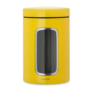 Банка для сыпучих продуктов Brabantia, желтая, 1.4л - арт.486043, фото 1