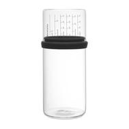 Банка для сыпучих продуктов Brabantia, с мерным стаканом, черный, 1 л - арт.290282, фото 1