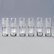 Набор стопок для водки Cristal de Paris - 6 шт, арт.CDP2403, фото 1