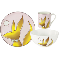 "Набор посуды для детей Anna Lafarg Emily ""Лисенок"" - 3 предмета - арт.AL-W16Q64-E6, фото 1"