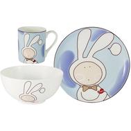 "Набор посуды для детей Anna Lafarg Emily ""Зайчонок"" - 3 предмета - арт.AL-W16Q66-E6, фото 1"