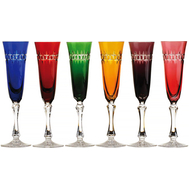 Цветные бокалы для шампанского Cristal de Paris Zurich 100мл - 6шт - арт.CDP2102, фото 1