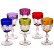 Цветные бокалы для красного вина Cristal de Paris Nicole 220мл - 6 шт, арт.CDP2201, фото 1