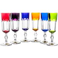 Цветные бокалы для шампанского Cristal de Paris Nicole 200мл - 6шт - арт.CDP2203, фото 1