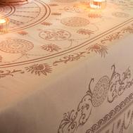 Скатерть круглая Garnier-Thiebaut Eloise Macaron, 244 см - арт.GT1407, фото 1