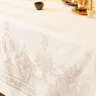 Скатерть прямоугольная Garnier-Thiebaut Beauregard Ivoire, 195х370 см - арт.GT1203, фото 1