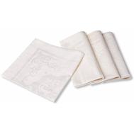 Набор тканевых салфеток Garnier-Thiebaut Beauregard Ivoire - 4 шт, 55х55 см (без пропитки) - арт.GT1206, фото 1