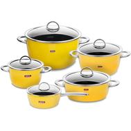Набор кастрюль Kochstar Neo Ultra Premium желтый, 5 предметов - арт.YELLOW-3, фото 1