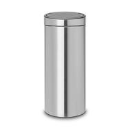 Контейнер для мусора Brabantia Touch Bin, стальной матовый с защитой от отпечатков пальцев, 30 л - арт.115462, фото 1