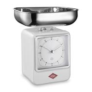 Весы кухонные Wesco, с часами, белые, 27 см - арт.322204-01, фото 1