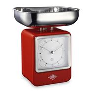 Весы кухонные Wesco, с часами, красные, 27 см - арт.322204-02, фото 1