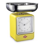 Весы кухонные Wesco, с часами, желтые, 27 см - арт.322204-19, фото 1