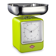 Весы кухонные Wesco, с часами, зеленые, 27 см - арт.322204-20, фото 1