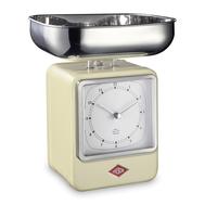 Весы кухонные Wesco, с часами, кремовые, 27 см - арт.322204-23, фото 1