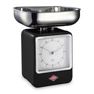 Весы кухонные Wesco, с часами, черные, 27 см - арт.322204-62, фото 1