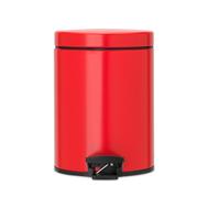 Контейнер для мусора с педалью Brabantia, красный, 5 л - арт.483707, фото 1
