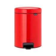 Контейнер для мусора с педалью Brabantia Newicon, красный, 20 л - арт.111860, фото 1
