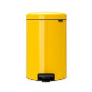 Контейнер для мусора с педалью Brabantia Newicon, желтый, 20 л - арт.113963, фото 1