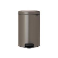 Контейнер для мусора с педалью Brabantia Newicon, платина, 20 л - арт.114045, фото 1