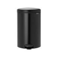 Контейнер для мусора с педалью Brabantia Newicon, черный, 20 л - арт.114106, фото 1