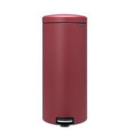 Контейнер для мусора с педалью Brabantia Newicon, бордовый, 30 л - арт.115981, фото 1