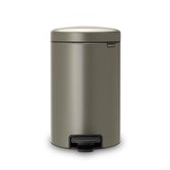 Контейнер для мусора с педалью Brabantia Newicon, платина, 3 л - арт.113246, фото 1