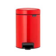 Контейнер для мусора с педалью Brabantia Newicon, красный, 5 л - арт.112089, фото 1