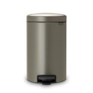 Контейнер для мусора с педалью Brabantia Newicon, платина, 5 л - арт.112683, фото 1