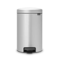Контейнер для мусора с педалью Brabantia Newicon, серый металлик, 5 л - арт.112904, фото 1