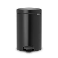 Контейнер для мусора с педалью Brabantia Newicon, черный, 5 л - арт.112928, фото 1