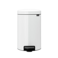 Контейнер для мусора с педалью Brabantia Newicon, белый, 5 л - арт.113406, фото 1