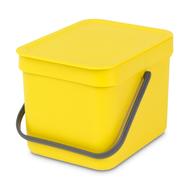 Встраиваемое мусорное ведро Brabantia Sort Go, желтое, 6 л - арт.109683, фото 1