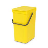 Встраиваемое мусорное ведро Brabantia Sort Go, желтое, 12 л - арт.109768, фото 1