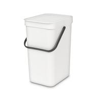 Встраиваемое мусорное ведро Brabantia Sort Go, белое, 12 л - арт.109782, фото 1