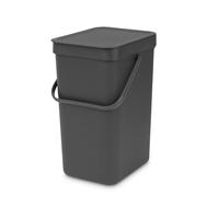 Встраиваемое мусорное ведро Brabantia Sort Go, серое, 12 л - арт.109805, фото 1