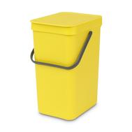 Встраиваемое мусорное ведро Brabantia Sort Go, желтое, 16 л - арт.109867, фото 1