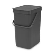Встраиваемое мусорное ведро Brabantia Sort Go, серое, 16 л - арт.109966, фото 1