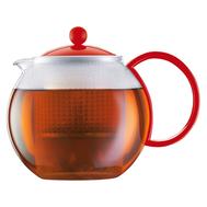 Пресс чайник Bodum Assam, красный, 1 л - арт.1844-294, фото 1